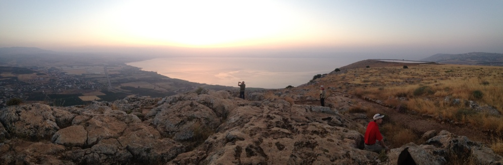 Sunrise on Mount Arbel, overlooking the Sea of Galilee