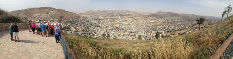 Overlook of the city of Shechem